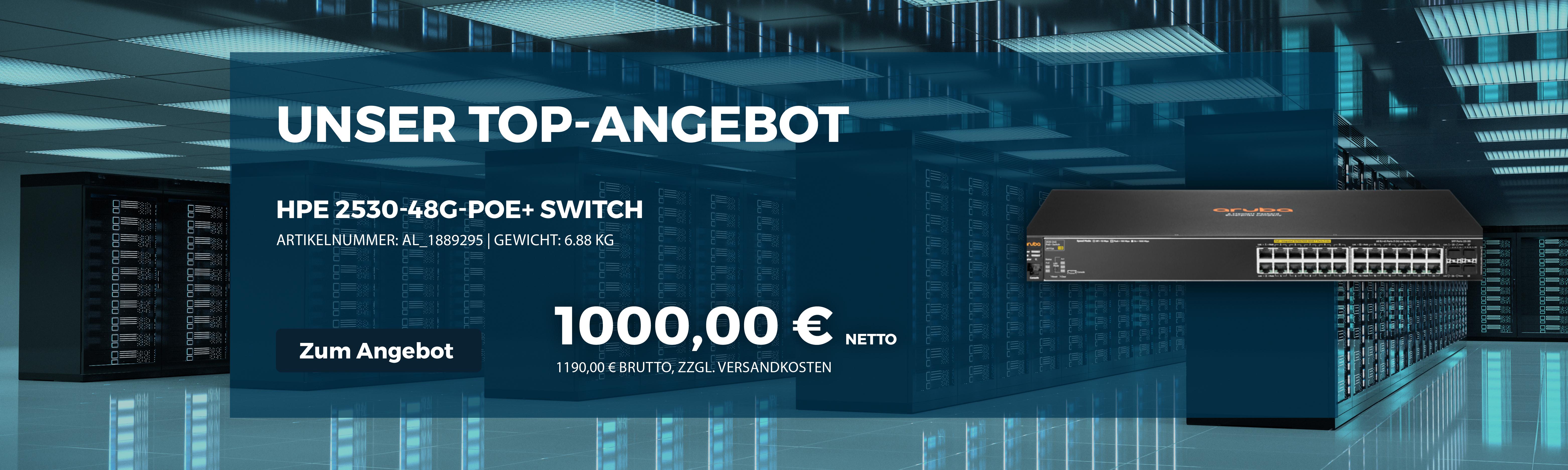 % Angebot - HPE 2530-48G-PoE+ Switch