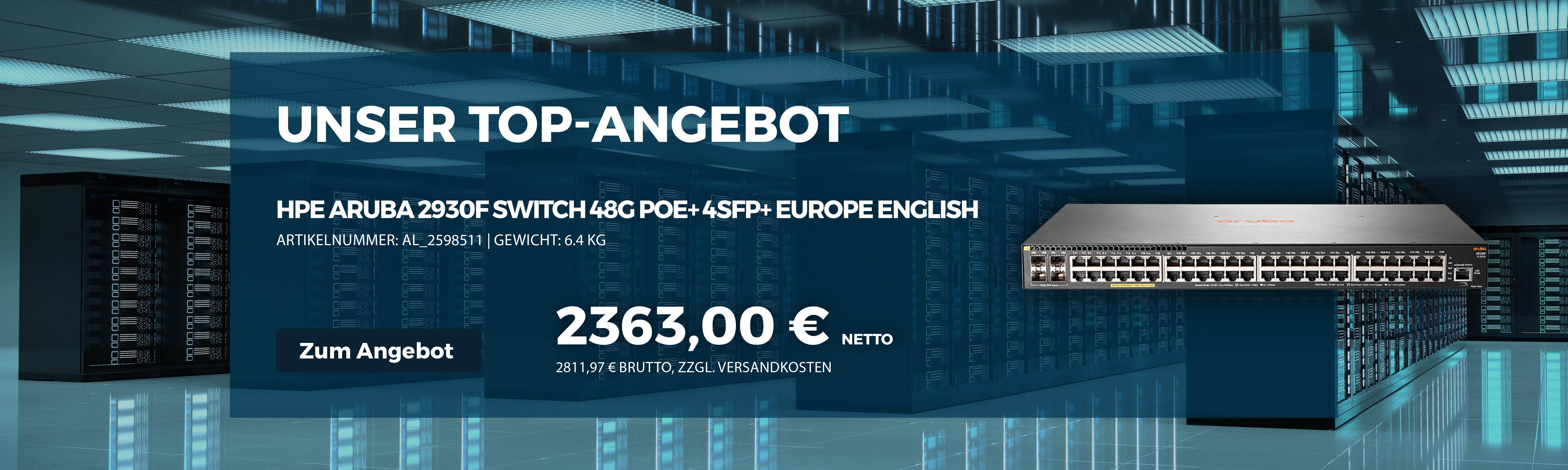 % Angebot - HPE Aruba 2930F Switch 48G